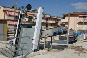 Griglia oleodinamica RD - Impianto idrovoro Rio Casale Rimini (Consorzio di bonifica della Romagna)