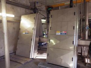 Griglie oleodinamiche CMR - Carterizzazione completa - Impianto di Thonon (Francia) - SAUR