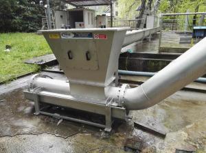 Compattatore oleodinamico - Impianto di depurazione di Gavirate (VA) - Prealpi Servizi